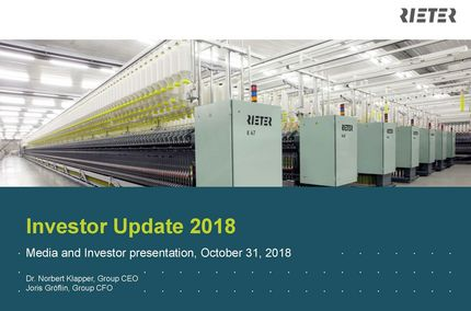 Page 1 of the media and investor presentation, October 31, 2018