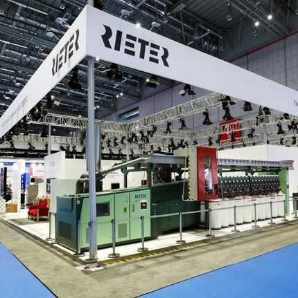 Rieter trade fair booth at ITMA Asia 2016